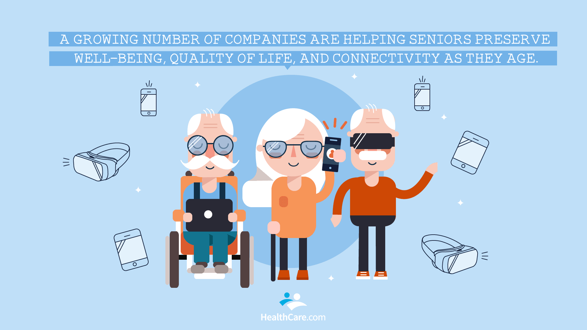 Senior Care Startups Illustration | The CheckUp by HealthCare.com