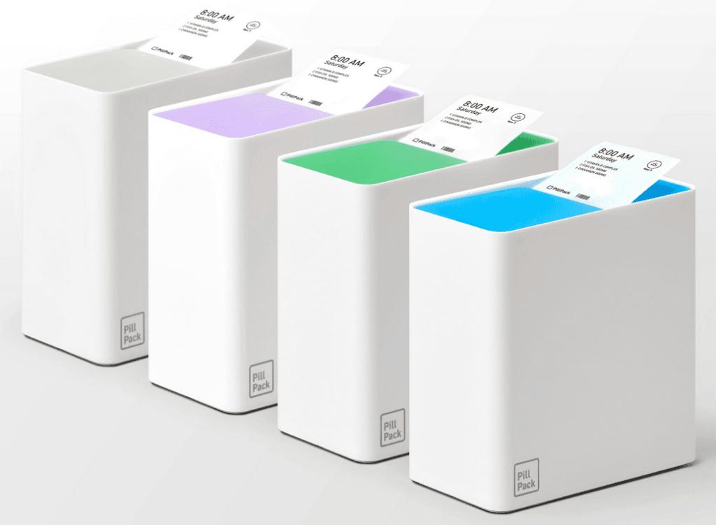 PillPack dispenser row | HealthCare.com