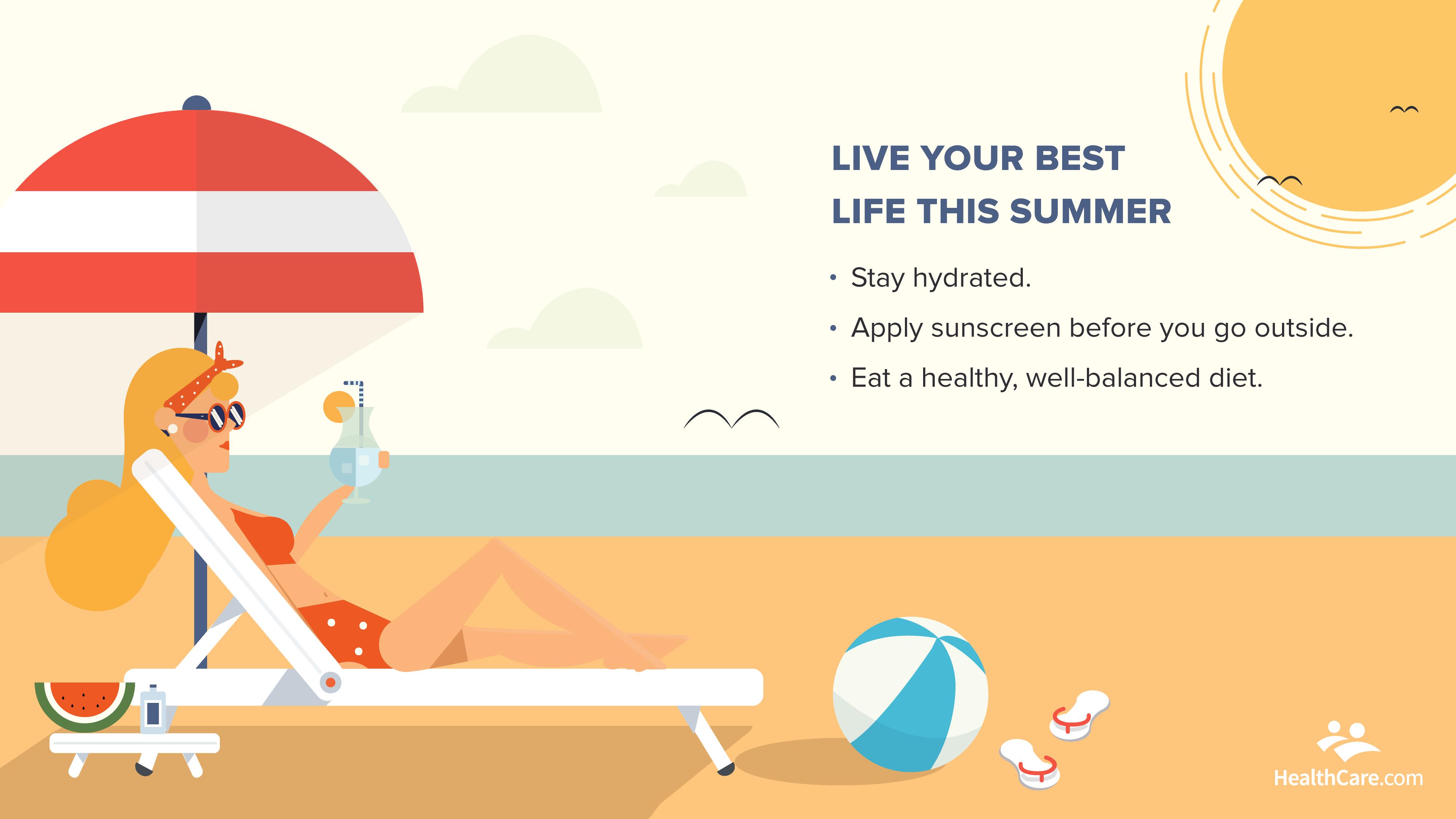 woman lounging beach | summer wellness