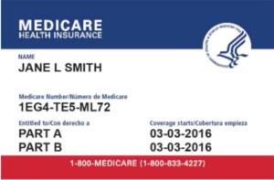 Medicare website HealthCare.com card design