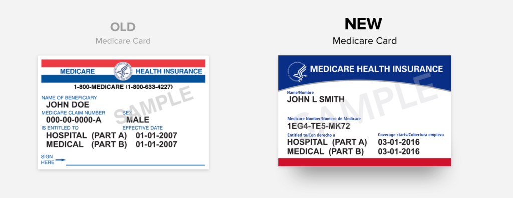 new Medicare card | side-by-side comparison | HealthCare.com