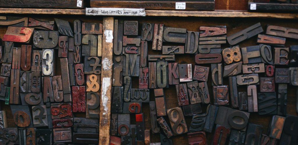 healthcare spelling | woodtype print letters