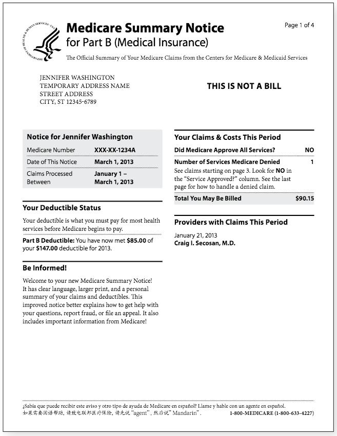 Medicare Summary Notice PartB1